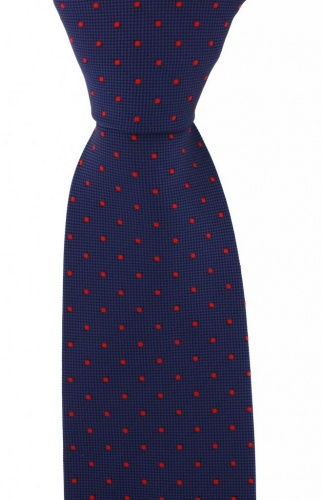 980b51bc9109 Navy Blue with Small Red Polka Dots Mens Microfibre Polyester Tie | Ties  For Men - Gents Shop
